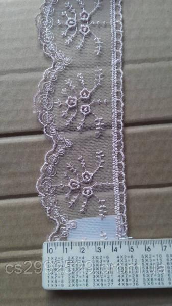 Бант вышивка на сетке для шитья