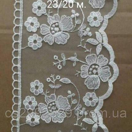 Бант сетка,органза вышитая обемные цветы 20 метров, фото 2