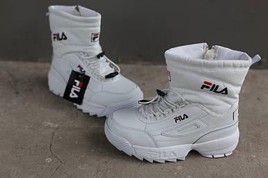 Ботинки зимние женские Fila Disruptor 2 (II) White