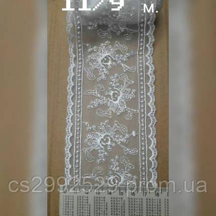 Вышивка на сетке,бант 9 метров белый., фото 2