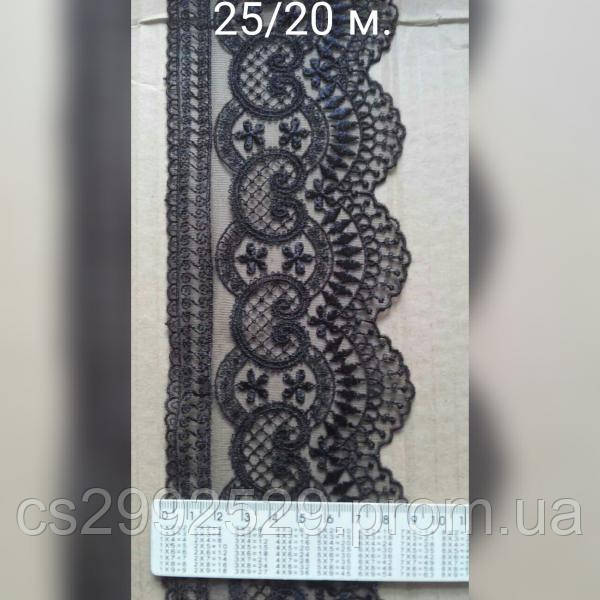 Бант сетка,машинная вышивка(20м.)