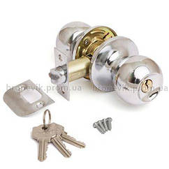 Ручка защелка Avers 6072-01-CR с фиксацией+ключи (Хром)