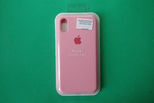 """Apple Silicone Case"" для iPhone X Rose"