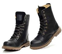 Мужские высокие кожаные сапоги ботинки Gucci Tianlun  2 цвета
