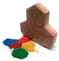 Пигменты, красители, добавки в бетон, пластификатор, диоксид титана, железоокисные пигменты.