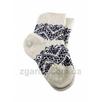 Мягкие носки с гуцульским узором