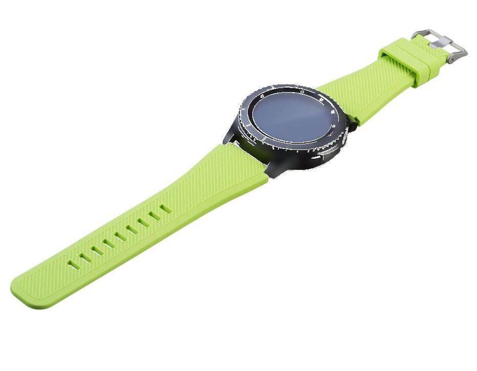 Силіконовий ремінець для годинника Samsung Galaxy Watch 46 mm SM-R800 - Light Green
