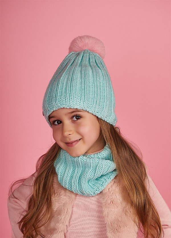 Детская шапка (набор) ЭСТЕЛЬ для девочек оптом р one size 46-50