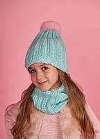 Детская шапка (набор) ЭСТЕЛЬ для девочек оптом р one size 46-50, фото 1