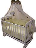 Детская кроватка маятник Лама. Белая, фото 4