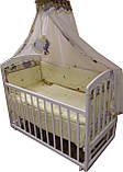 Детская кроватка маятник Лама. Белая, фото 5