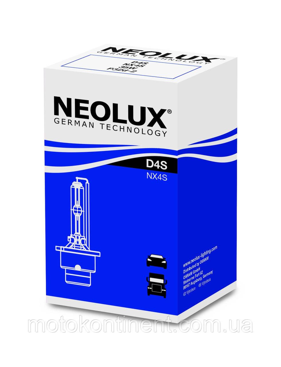 D4S Ксенон (неолюкс) Neolux STANDARD от OSRAM D4S 42V 35W 4300K P32D-5