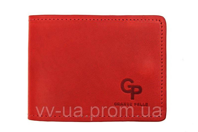 Картхолдер Grande Pelle Tentare, матовая кожа, красный (308160)