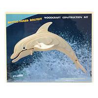 Деревянные 3D пазлы Дельфин (H002)
