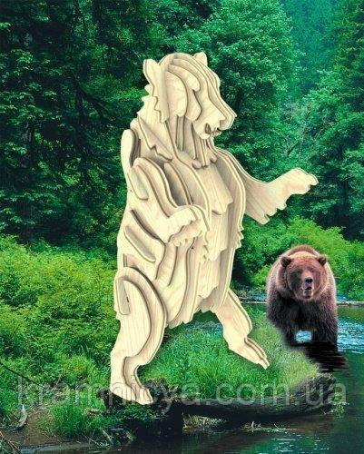 Деревянные 3D пазлы Медведь (М022)