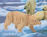 Деревянные 3D пазлы Полярный медведь (М023)