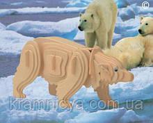 Дерев'яні 3D пазли Полярний ведмідь (М023)