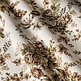 Красивые шторы с розами коричневый, фото 2