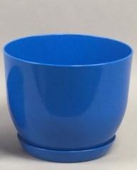 Горщик класик для рослин Синій 13 см