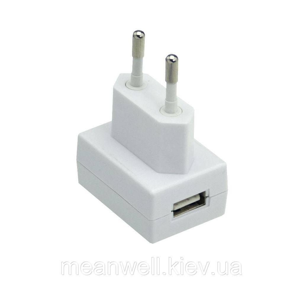 GS05E-USB AC DC адаптер живлення 5В, 1А Mean Well