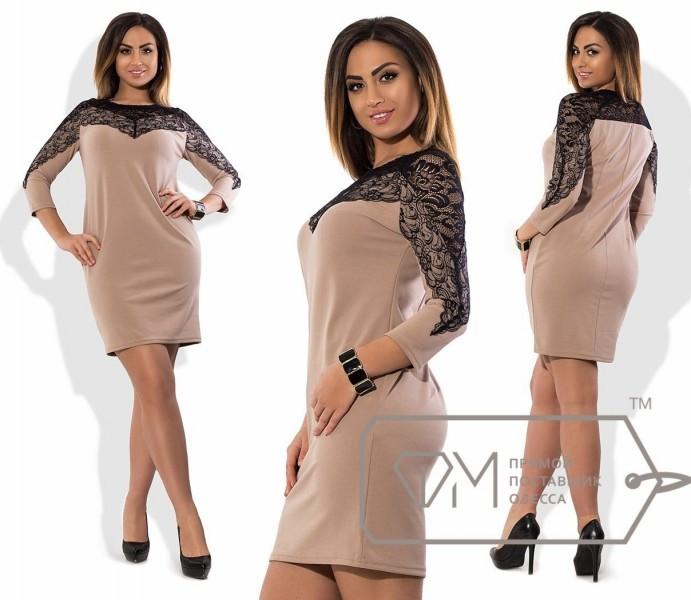 Стильное женское платье набивной гипюр 48, 50, 52, 54 размер батал