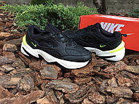 Мужские кроссовки Nike M2K Tekno Black Volt  ( Реплика )