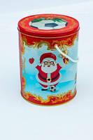 Новогодняя коробка с крышкой из жести, Футбол, D14,7х19 см, Новогодняя упаковка, Днепр, фото 1