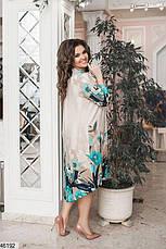 Новинка! платье-туника женское демисезонное большие размеры:48-58, фото 3