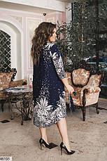 Новинка! платье-туника женское демисезонное большие размеры:48-58, фото 2