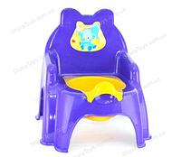 """Горшок для детей """"Слоненок"""" фиолетовый"""