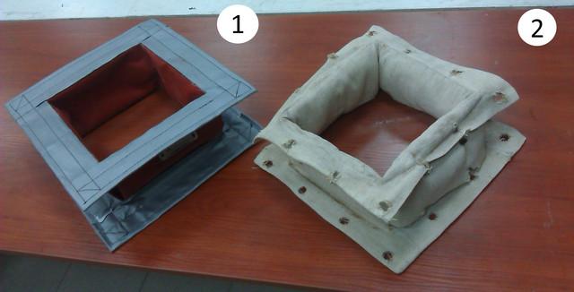 Термостойкие гибкие  вставки для вентиляции