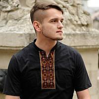 Мужская футболка-вишиванка черная | Чоловіча футболка-вишиванка чорна