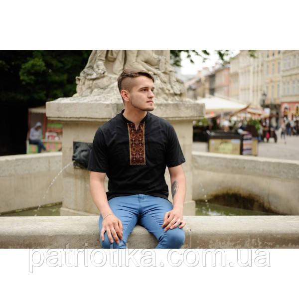 Мужская футболка-вишиванка черная  e2613c17c9010