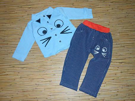 Нарядный костюм на мальчика голубая рубашка на 4 года, фото 2