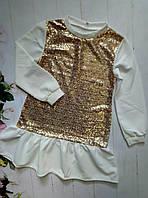 """Платье на девочку """"Анжелика"""", р. 128-152, цвет желтый"""