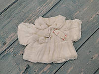 Меховое болеро на девочку 1-2 года, кремовый
