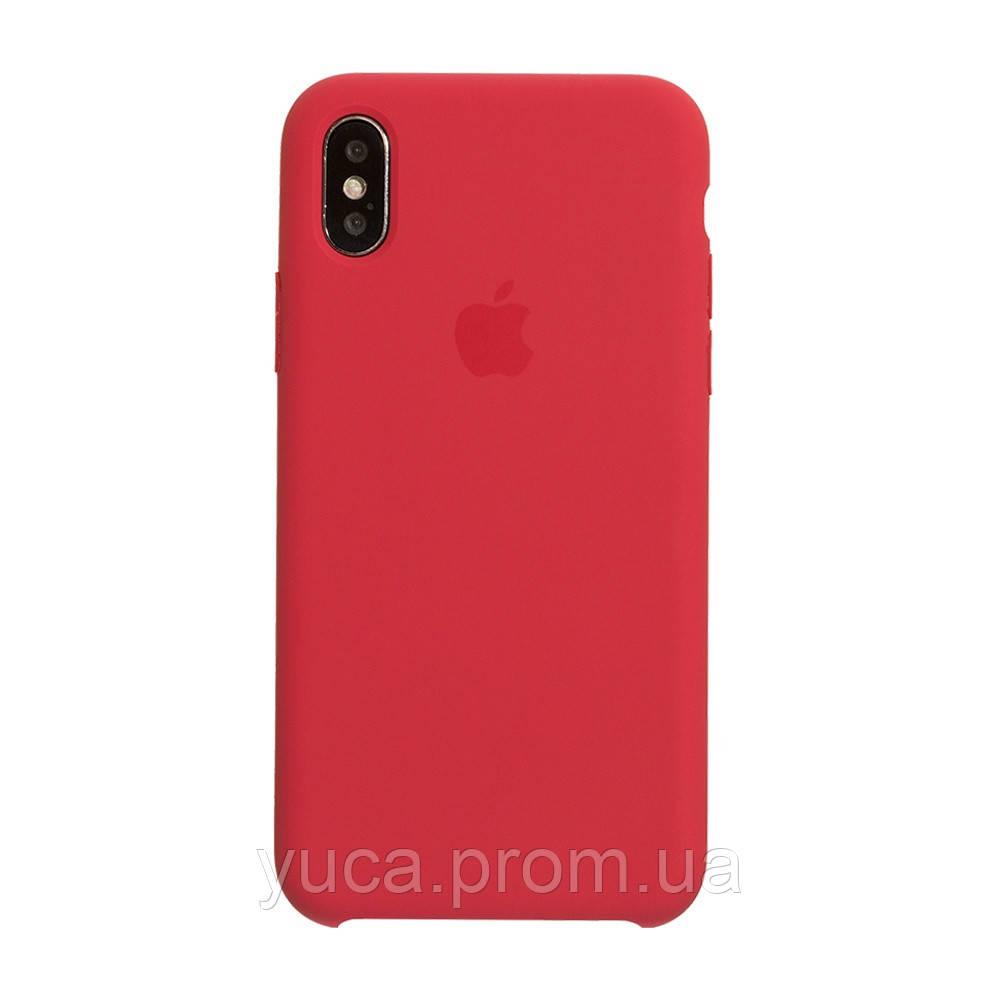 Чехол силиконовый для APPLE iPhone X красная малина оригинал