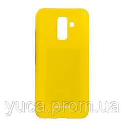 Чехол силиконовый для SAMSUNG A6 Plus 2018 Euro Molan Shining 04 жёлтый