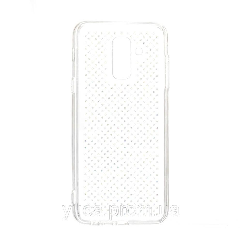 Чехол силиконовый для SAMSUNG A6 Plus Unique Skid Ultrasonic Series прозрачный