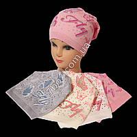 Детская шапка одинарная вязка для девочек 3-6лет. Польша 7466