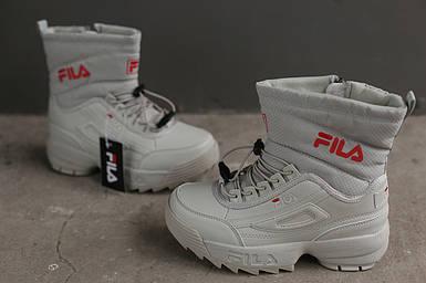 Ботинки зимние женские Fila Disruptor 2 (II) beige бежевые