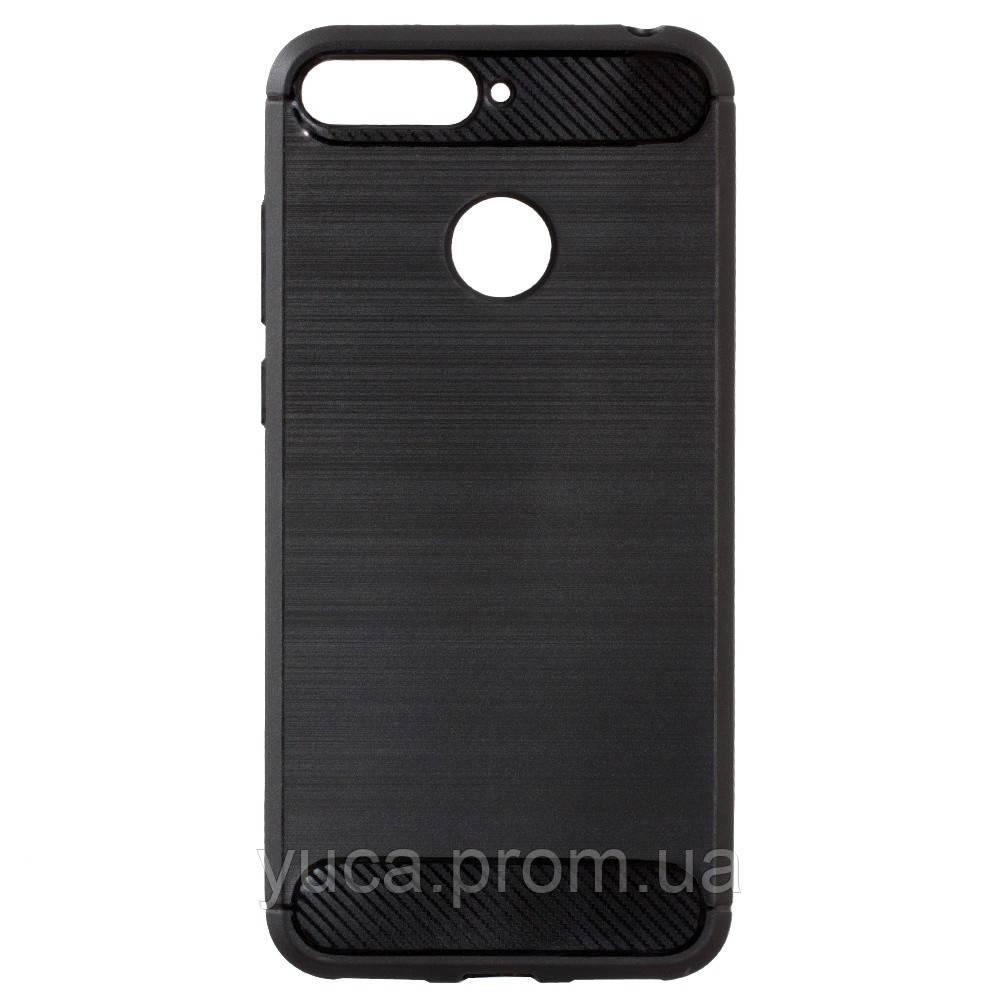 Чехол силиконовый для HUAWEI Y6 Prime 2018 Polished Carbon чёрный