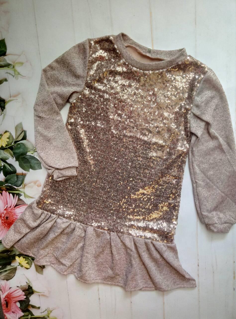 """Платье на девочку """"Анжелика"""", р. 128-152, цвет пудра"""