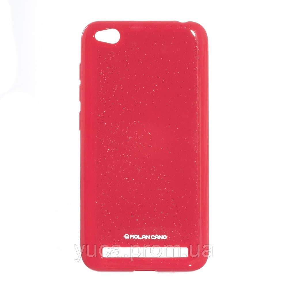 Чехол силиконовый для XIAOMI Redmi 5A Molan Shining 03 светло-красный