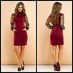 Стильное платье с вышивкой на рукавах, фото 5