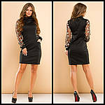 Стильное платье с вышивкой на рукавах, фото 3