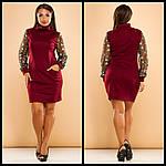Стильное платье с вышивкой на рукавах, фото 6