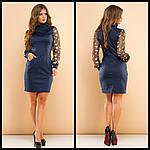 Стильное платье с вышивкой на рукавах, фото 7