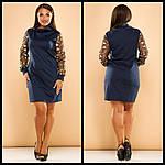 Стильное платье с вышивкой на рукавах, фото 8