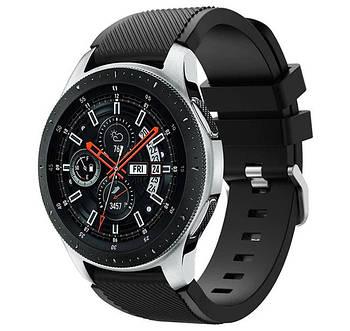 Силіконовий ремінець для годинника Samsung Galaxy Watch 46 mm SM-R800 - Black
